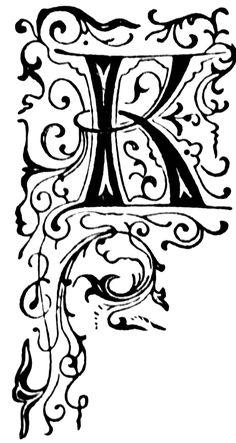 K, Floral initial