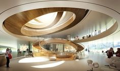 The Olympic Committee unveils plans for a new headquarters  Like the light coming through all floors at the stairs.