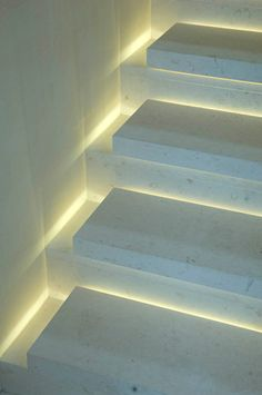 Stone stair with lighting - great idea!