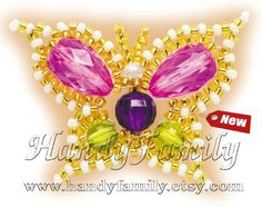 Butterfly Beading set. Beading starter kit. Bead Kits & Crafts. Learn to bead easy. DIY beading. Ornament pendant decoration brooch pin. by HandyFamily on Etsy