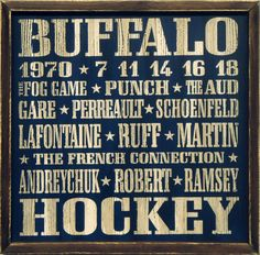 """Country Marketplace - Vintage Buffalo #Sabres Wood Sign 18"""" x 18"""", (www.countrymarket...)"""