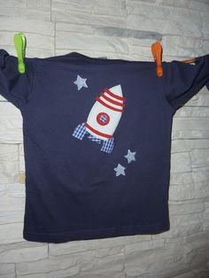 T-Shirts - Shirt mit Raketen Applikation - ein Designerstück von HulkundGretel bei DaWanda
