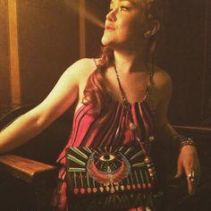 Sitting pretty in the sunlight, Ali DeGray wears the TYSA Sonoma Playsuit in Santa Fe