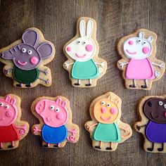 Peppa pig and friends cookies
