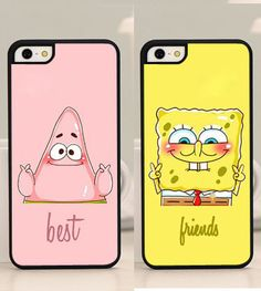 Best Friends Forever BFF Spongebob plastic hard cover case Phone Cases For Iphone 6 6 Plus 5 5s 5c 4 4s Case Cover