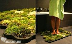 La Chanh Nguyen's moss carpet brings a little green into your bathroom in an unconventionally natural way. Eco-friendly Live Moss Carpet thrives with only the few drops of water you leave behind after stepping out of the shower.