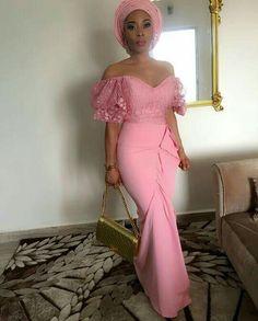 #Asoebi #Africa #NigerianWedding #Peach #Gele #Wedding #Kitenge