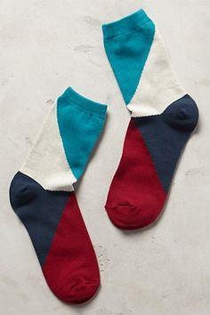Slanted Colorblock Crew Socks - anthropologie.com #anthrofave