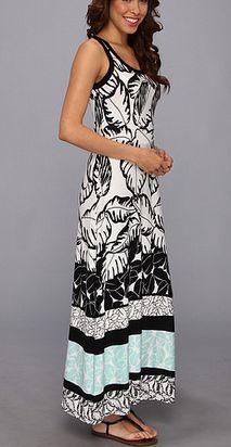 Polynesian Print Maxi Dress