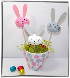 hasen rabbits aus papier basteln mit kindern ostern pinterest papier basteln basteln. Black Bedroom Furniture Sets. Home Design Ideas