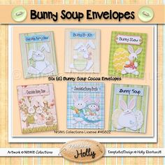 Bunny Soup Envelopes :: Easter :: Holidays :: Aimee Asher Boutique