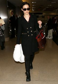 Emmy Rossum at LAX Airport in LA
