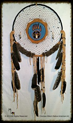 Native American Indian made craft - Large 20 inch Dream catcher.