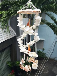 Items similar to Home decor Seashell Wind Chimes, Diy Wind Chimes, Seashell Art, Seashell Crafts, Sea Glass Crafts, Sea Crafts, Diy Arts And Crafts, Seashell Projects, Garden Crafts