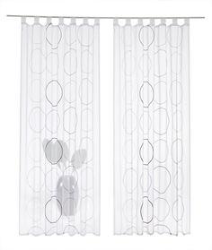 Gardine, my home, »Salima« (2 Stück) ab 33,09€. Transparenter Stoff, Bestickt, Voile, Leicht glänzend, Leichte Qualität bei OTTO