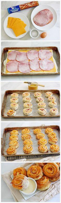 Ham and Cheese Pretzel Bites