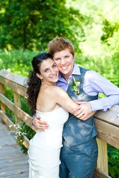 Real Gay Weddings: April and Claire | Equally Wed - A gay and lesbian wedding magazine.