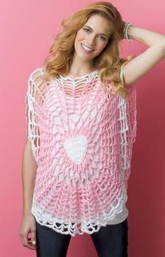 Lighthearted Tunic By Doublestitch Twins - Free Crochet Pattern - (redheart)