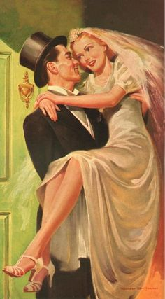 MUCH TO DO Yesterday we attended a lovely family wedding. along with the bride and groom, their . Vintage Wedding Photos, Vintage Pictures, Vintage Images, Vintage Romance, Vintage Love, Vintage Ads, Pin Up, Wedding Art, Wedding Bride