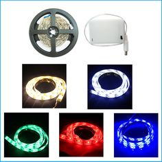LED Lights Strip 5V + battery box powered Showcase Camping Longboard Nightlight in Home, Furniture & DIY, Lighting, Fairy Lights | eBay