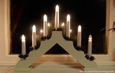 seven-stick-candle.  Always in the windows at Christmas