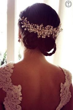 Tocado Novia Wedding Hair Pieces, Wedding Make Up, Fall Wedding, Dream Wedding, Headpiece Wedding, Bridal Headpieces, Bridal Hair, Pretty Hairstyles, Wedding Hairstyles