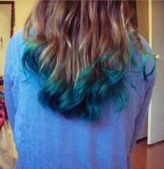 Medium blond blue green
