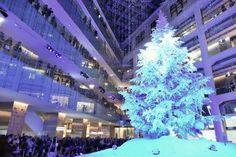 [F]ホワイトクリスマスツリー。冬が待ちどうしい