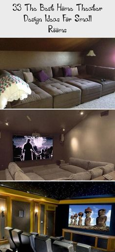 33 The Best Home Theater Design Ideas For Small Rooms The Be. - 33 The Best Home Theater Design Ideas For Small Rooms - Home Theater Basement, Home Theater Room Design, Basement Bar Designs, Best Home Theater, Home Bar Designs, Modern Basement, Home Theater Rooms, Theatre Design, Home Office Design