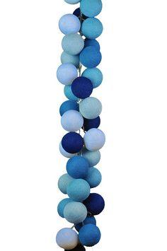 Set de luminária - Azul Quarto de Bebê - Cordão de Luz LED Degradê Azul - Cormilu