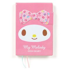 My Melody B6 Size Diary Day Planner Notebook 2016 Magnet Closure SANRIO Made in JAPAN