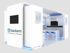 Sanlam Employee Benefits Exhibition Stand - perspective