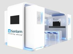 Sanlam Employee Benefits Exhibition Stand - perspective