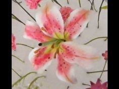 How to make a Gumpaste Stargazer Lily