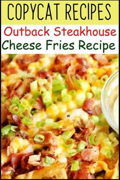Easy Outback Restaurant Copycat Recipes you MUST try at home - How to make Outback's Bloomin' Onion copycat recipe, Cheese Fries, Coconut Shrimp, Alice Springs Chicken, and Outback's Delicious Ranch Dressing. Copycat Recipes Outback, Copykat Recipes, Bloomin Onion Copycat Recipe, Pizza Ranch, Air Fryer Cooking Times, Cheesecake Factory Recipes, Fries Recipe, Baked Chicken Recipes, Vegetable Dishes