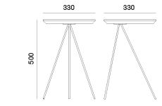 Bias Side Table Dimensions