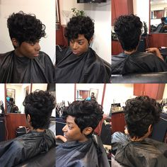 Quick weave short hair cut