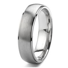 Tailor Made 7mm Domed Grooved Titanium Ring Brush Wedding Band Australian Size F - Z4+ (#TR07)