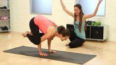 Tips from Tara Stiles on how to master Crow pose. #yoga