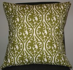 green patterned pillow