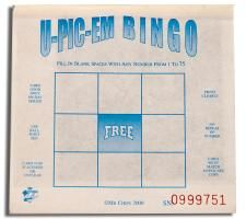 1 on 1 Free U-Pick-Em; Alternative form of Bingo; Allows the player to pick their own winning numbers; Great for Jackpot Sales, Early-Bird Specials, Night-Owl Games, and Intermission Games Winning Numbers, Bingo Cards, Novelty Items, Night Owl, Early Bird, Board Games, Bar Chart, Alternative, Education