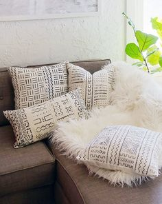 Mudcloth pillow covers - 15% off with code thestyleeater on Cyber Monday!