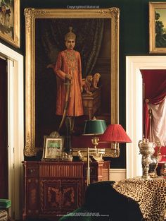 Love love that painting - the dark colors, scale, subject matter French Interior, Classic Interior, French Decor, South Shore Decorating, Fru Fru, Parisian Apartment, Interior Decorating, Interior Design, World Of Interiors