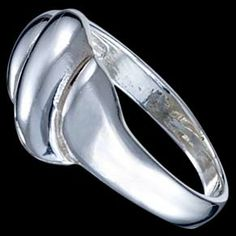Silver ring, wave Silver ring, Ag 925/1000 - sterling silver. Simple, modern design for daily wearing. Extremely popular design. Design width approx. 8mm.