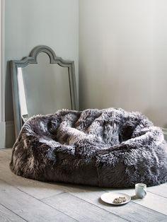 Sumptuous Sheepskin Double Beanbag - Mink - Beanbags - Decorative Home - Indoor Living
