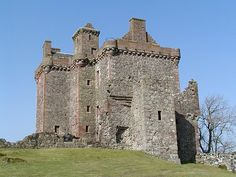 Balvaird Castle, Perthshire was built in 1500 by Sir Andrew Murray, a member of… Scotland Castles, Scottish Castles, Tower House, Castle House, England Ireland, England And Scotland, Castle Ruins, Medieval Castle, Cairngorms National Park