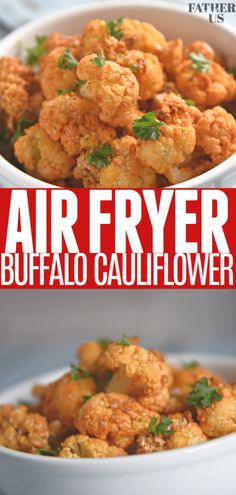 Air Fryer Buffalo Cauliflower Air Fryer Buffalo Cauliflower,fatherandus A healthy alternative to a great game day food recipe. Enjoy the playoffs without all of the guilt! This Air Fryer Buffalo Cauliflower recipe is the. Baked Potato Recipes, Cauliflower Recipes, Cauliflower Buffalo Wings, Vegetarian Recipes, Healthy Recipes, Healthy Food Alternatives, Ninja Recipes, Healthy Options, Avocado Salad Recipes