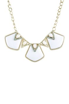 Glass & Mother of Pearl Statement Necklace by Danielle Stevens on @HauteLook