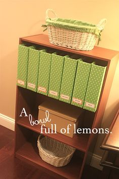 A bowl full of lemons.: How to make Magazine storage boxes... YOURSELF! :)