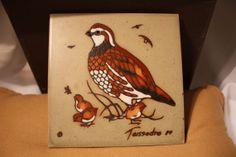 Cleo Tessedre Handpainted Tile Trivet coaster or by VintagebyViola, $75.00